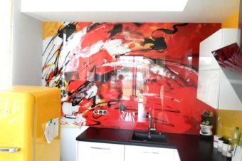 Grafika na szkle – kuchnia | łazienka