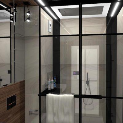 industrialna łazienka;